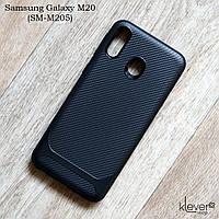 TPU чехол Carbon Line для Samsung Galaxy M20 (SM-M205) (черный)