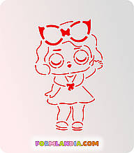 Трафарет + форма Кукла Лол №1