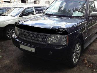 Дефлектор капота (мухобойка) Ленд Ровер Рендж Ровер (Land Rover Range Rover) 2002-2012 г