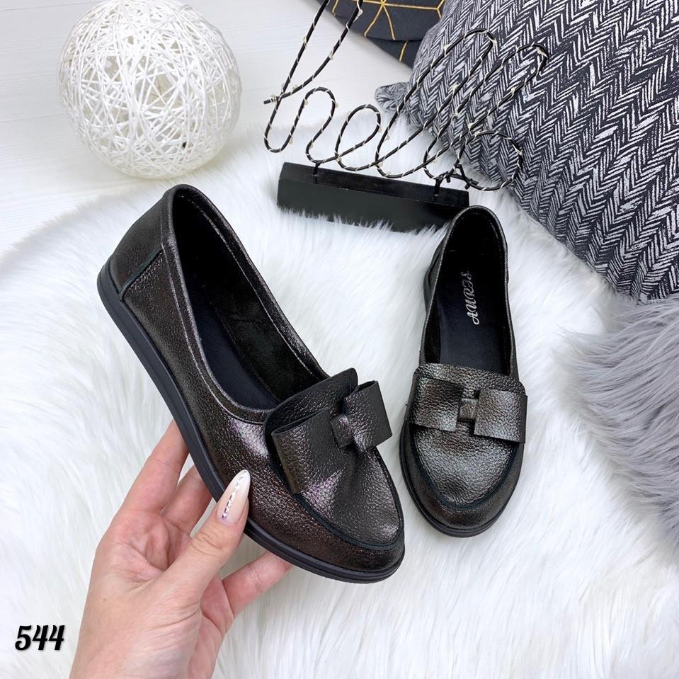 Туфли женские BLACK натуральная кожа 544