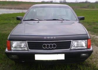 Дефлектор капота (мухобойка) Ауди 100 С3 (Audi 100 С3) 1983-1991 г