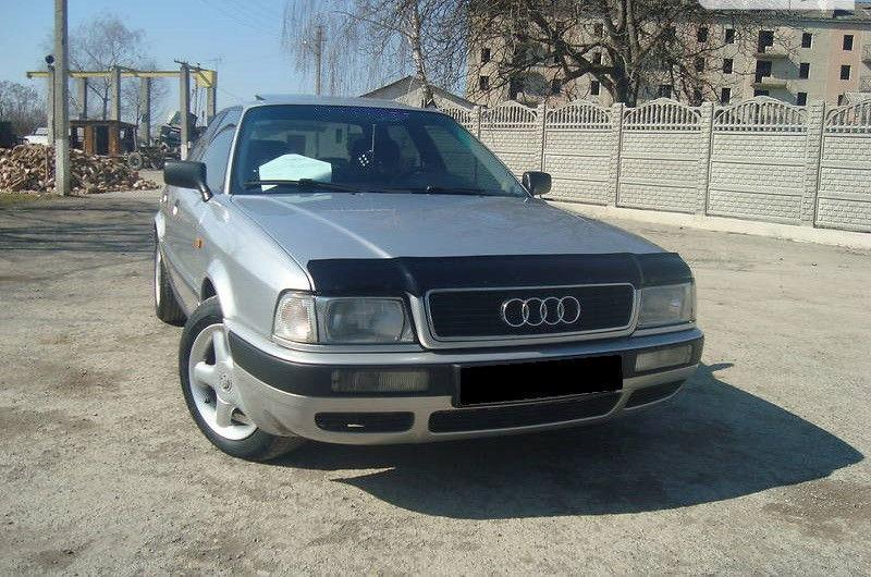 Дефлектор капота (мухобойка) Ауди 80 Б4 (Audi 80 B4) 1991-1995 г