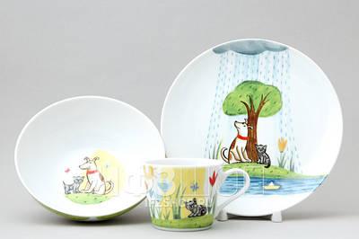 Посуда (для садиков и школ, обеденные/кофейные/чайные комплекты)