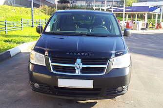 Дефлектор капота (мухобойка) Додж Караван 5 (Dodge Caravan V) 2007–2010 г