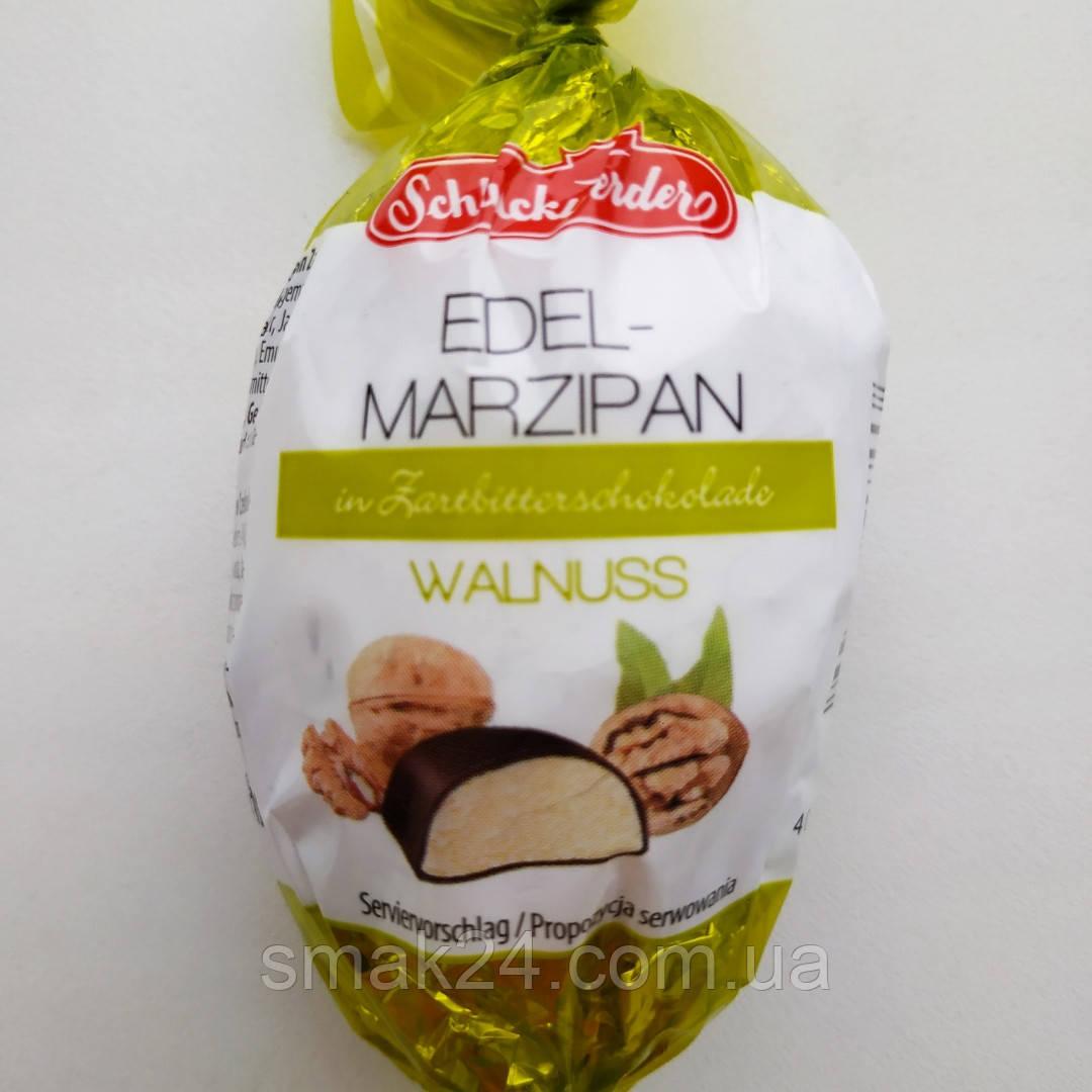 Марципан с грецким орехом Edelmarzipan  Schluckwerder 100 г Германия