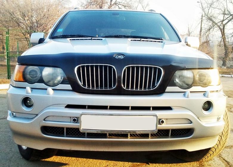 Дефлектор капота (мухобойка) БМВ Х5 Е53 (BMW Х5 Е53)  2000 - 2004 г