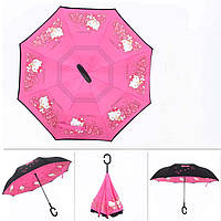 Детский зонт обратного сложения Hello Kitty, фото 1