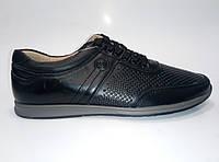 Мужские кожаные летние туфли на шнурках ТМ Kangfu, фото 1