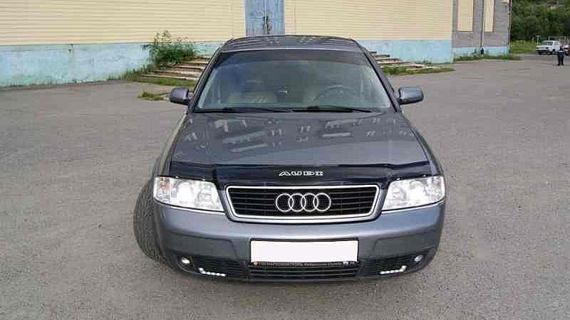 Дефлектор капота (мухобойка) Ауди А6 4Б/С5 (Audi A6 4B/С5) 1997-2004 г