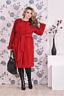 Червоне пальто жіноче стильно пряме великий розмір (різні версії) 42-74. Т0151-4, фото 2