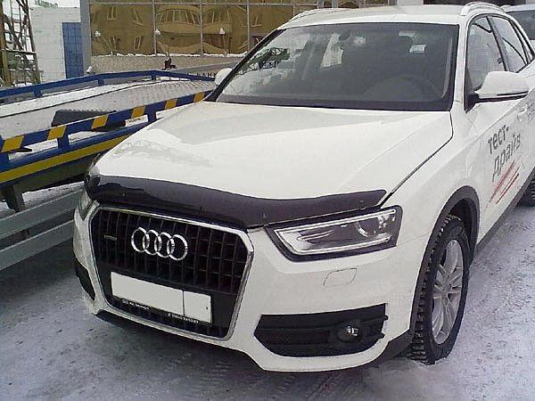 Дефлектор капота (мухобойка) Ауди Q3 (Audi Q3) с 2011 г
