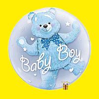 Воздушный шар и внутри шар Мишка «baby boy»