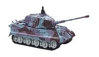 Танк микро Great Wall Toys King Tiger на радиоуправлении масштаб 1к72 со звуком фиолетовый 35MHz SKL17-139918