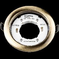 Встраиваемый светильник Ilumia под лампу GX53, Состаренная латунь, 105мм (052)
