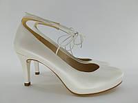 Туфлі жіночі шкіряні Unisa nao bone 41 р. 26,7 см білі арт. 093
