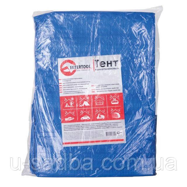Тент водонепроницаемый, полипропиленовый (тарпаулин), 4*5 м с люверсами INTERTOOL AB-0405