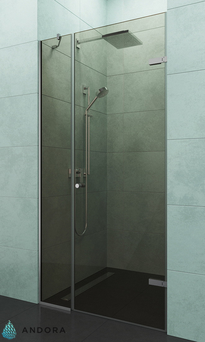 Душевая дверь ANDORA Relax P Bronze 120