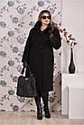 Чорне пальто жіноче зимове модне (різні версії) великого розміру 42-74. Т0199-3, фото 2