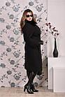 Черное пальто женское зимнее модное (разные версии) большого размера 42-74. Т0199-3, фото 3