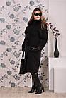 Черное пальто женское зимнее модное (разные версии) большого размера 42-74. Т0199-3, фото 4