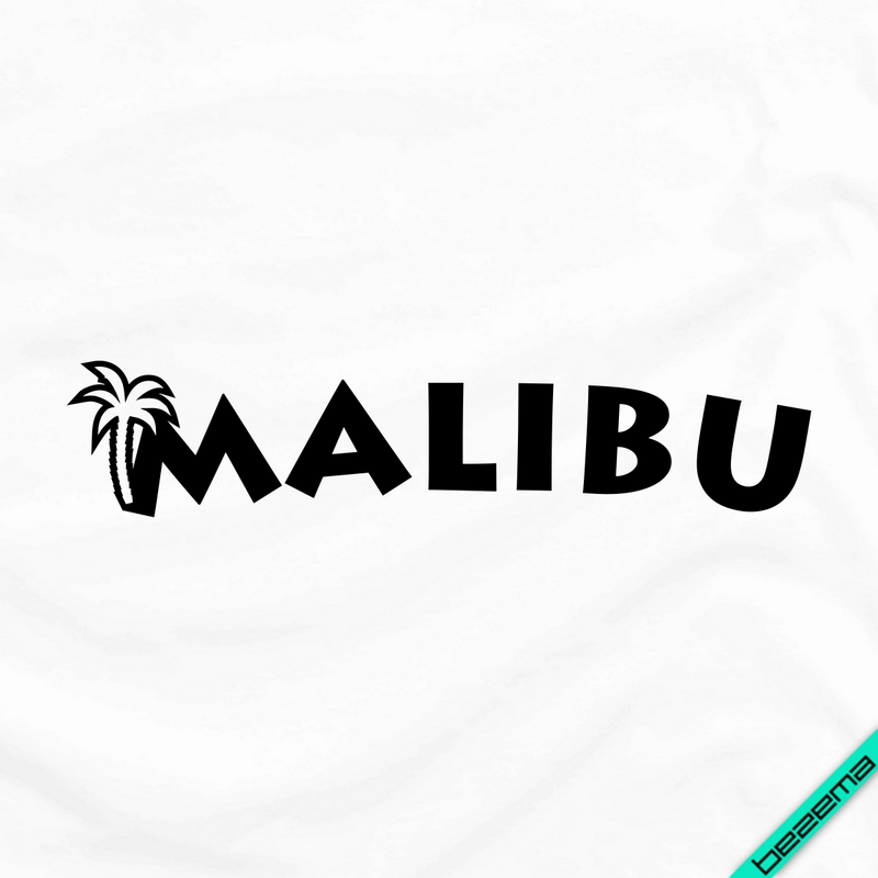 Аплікація, наклейка на тканину MALIBU [Свій розмір і матеріали в асортименті]