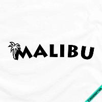Аппликация, наклейка на ткань MALIBU [Свой размер и материалы в ассортименте]