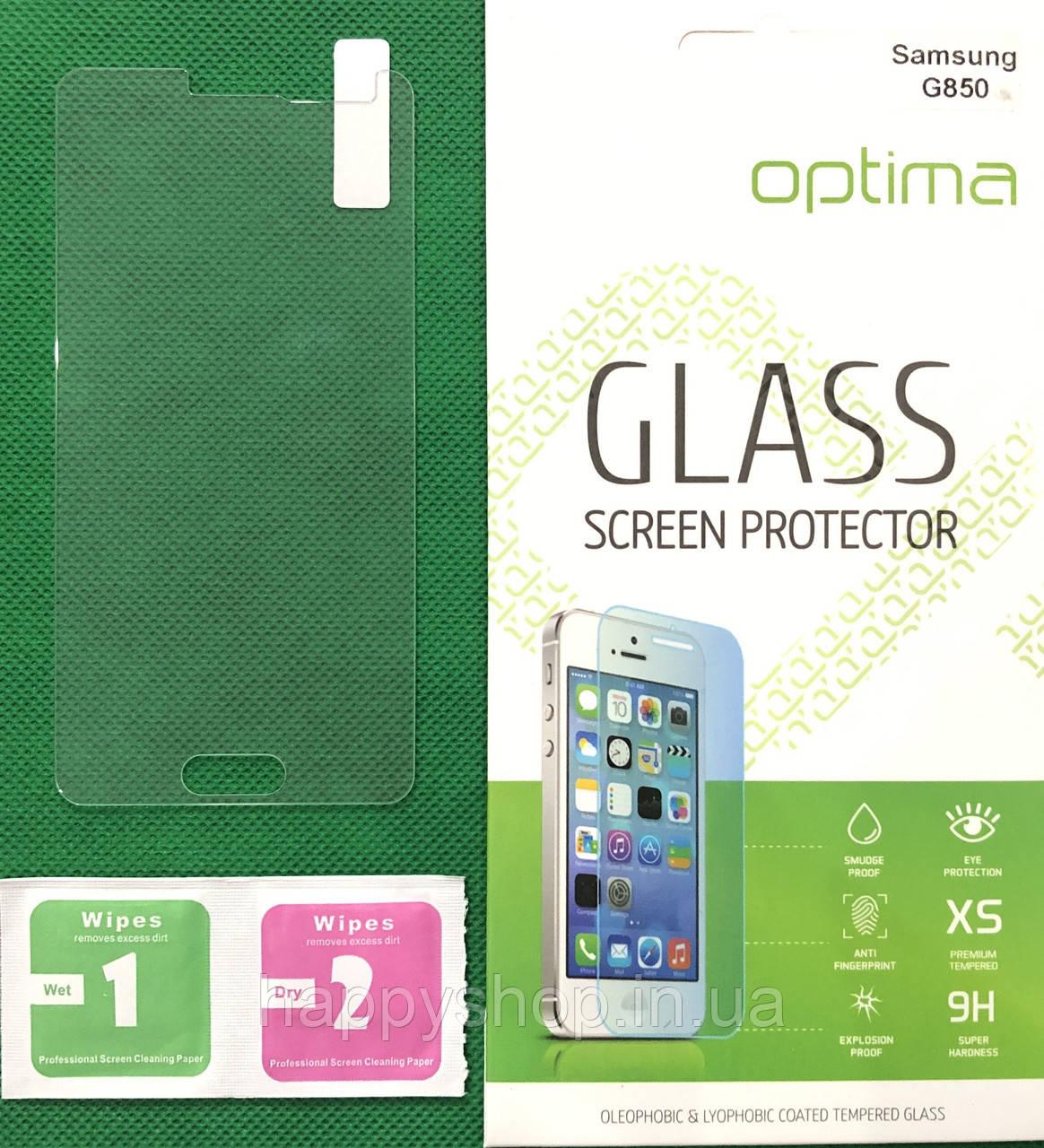Защитное стекло Samsung Galaxy Alpha G850