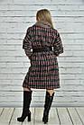 Червоне пальто жіноче демісезонне (пояс в комплекті) великого розміру 42-74. Т0357-3, фото 5