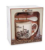 Чашка фарфоровая для кофе Coffee 300 мл в подарочной коробке MUG-228/4, фото 1