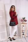 Бордовый плащ женский укороченный большого размера 42-74  0583-3, фото 3