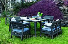 Комплект садовой мебели Allibert Delano Fiesta, антрацит, фото 2