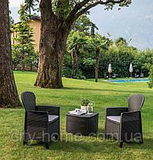 Кресло пластиковое  Folia антрацит с подушкой, фото 2