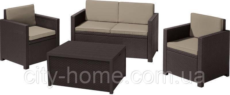 Комплект садовой мебели Monaco, коричневый