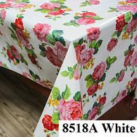 Клеенка (8518A White) силиконовая, без основы, рулон. Китай. 1,37м/30м