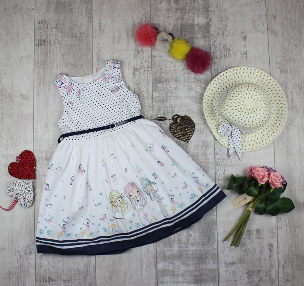 Платья детские с панамой на лето Moonstar 3781