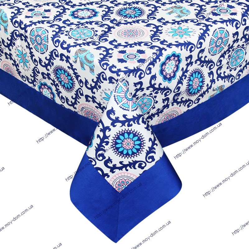 Скатерть INDIA с бордюром 135*135 TM Time Textile