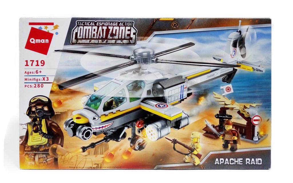 """Конструктор Qman Combat Zones """"Apache Raid"""" Апаче рейд"""