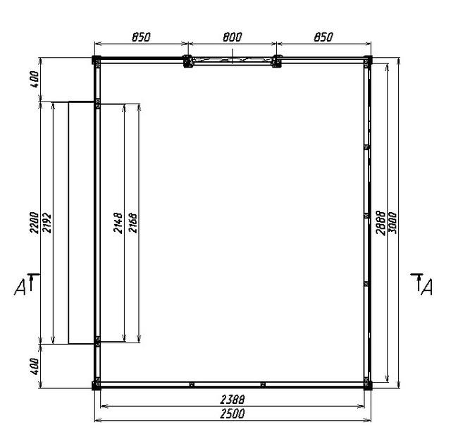 Деревянный павильон размером 5,0х8,0