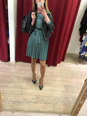 Женское платье Италия голубое с сердечками, фото 3