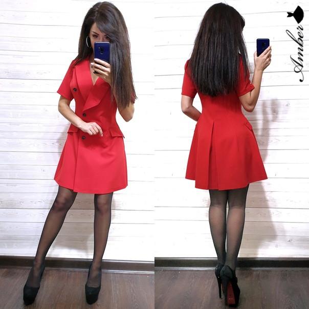 Женское модное деловое платье РАЗНЫЕ ЦВЕТА