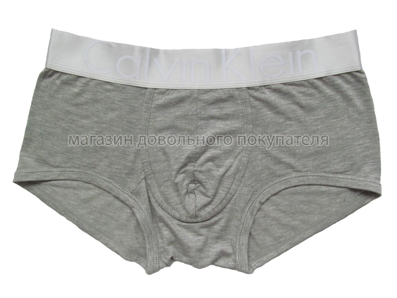 Мужские трусы боксёры Calvin Klein серия Steel модал серые (реплика)