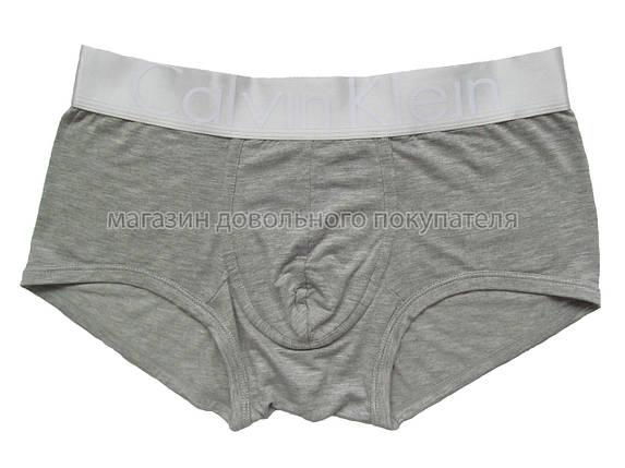 Мужские трусы боксёры Calvin Klein серия Steel модал серые (реплика), фото 2