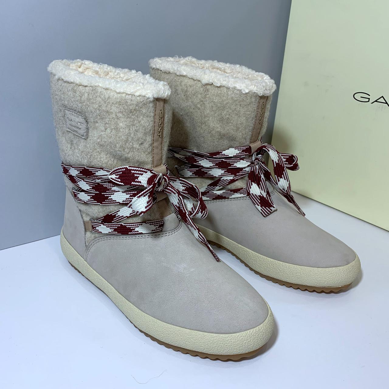 98797ce3 Женские зимние бежевые ботинки Gant Amy. Размер 38 EU (24,5 см ...