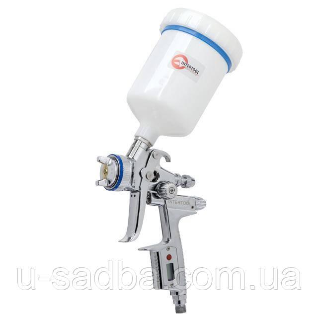 Краскопульт пневматический HVLP II Digital профессиональный INTERTOOL PT-0105D
