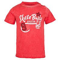 Верх лето футболка , на груди - белая надпись и собака мал. красная 100% хлопок 4.Q710 iDO, Италия