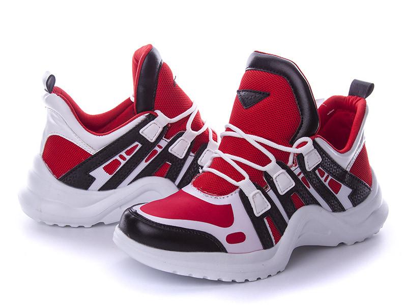 Женские кроссовки Violeta красные с белым