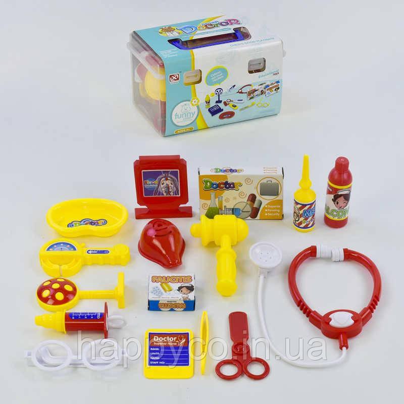 Детский игровой набор доктора 16 предметов, в чемодане