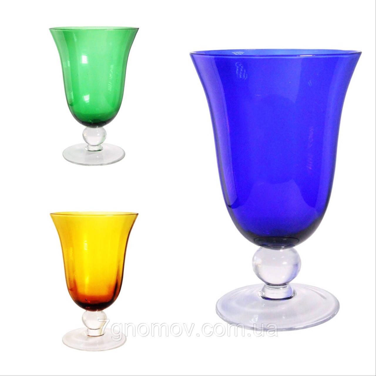 Набор 6 бокалов для вина из цветного стекла Bailey Abby по 500 мл