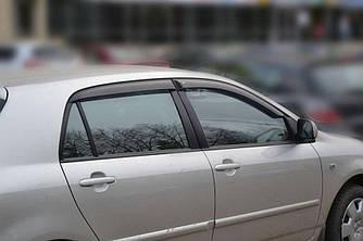 Дефлекторы окон (ветровики) Тойота Королла (Toyota Corolla) 2001-2007 г (хэтчбек, 5-ти дверный)