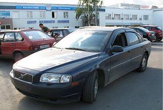 Дефлекторы окон (ветровики) Вольво С80 (Volvo S80) 1998-2005 г